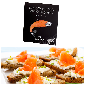 Salmone Red King carpaccio affumicato 90 g